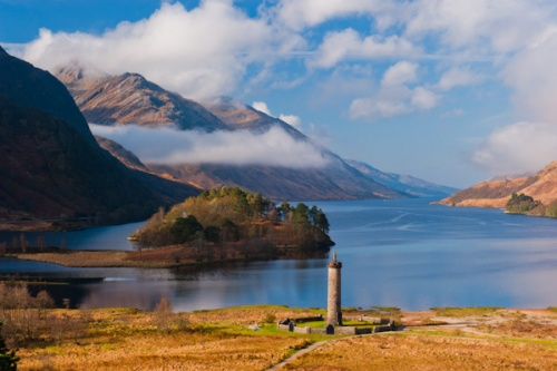 The Glenfinnan Monument and Loch Shiel