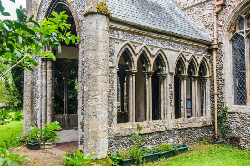 The 13th century porch of St Mary's, Great Massingham