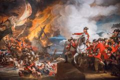 'The Defeat of the Floating Batteries at Gibraltar, September 1782' by John Copley
