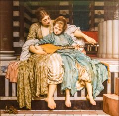 Frederic Leighton, 'The Music Lesson'