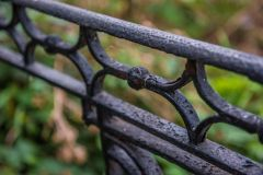An ornate 19th century iron fence