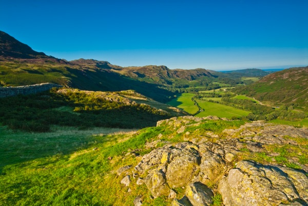 Eskdale from Hardknott Roman Fort
