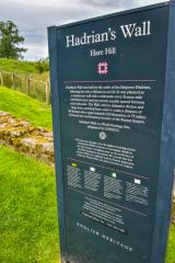 Hare Hill (Hadrians Wall), The English Heritage information panel at Hare Hill