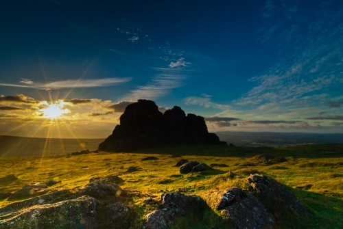 Sunrise at Haytor Rocks, Dartmoor