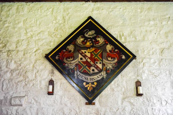 Heavenfield, St Oswald's Church photo, Clarke family funeral hatchment