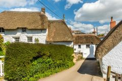 Beautiful thatched cottages and the village pub (right)