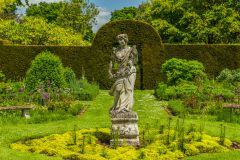 Helmingham Hall Gardens, A statue in the Parterre garden