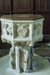 Helmingham, St Mary's Church, The 15th century font
