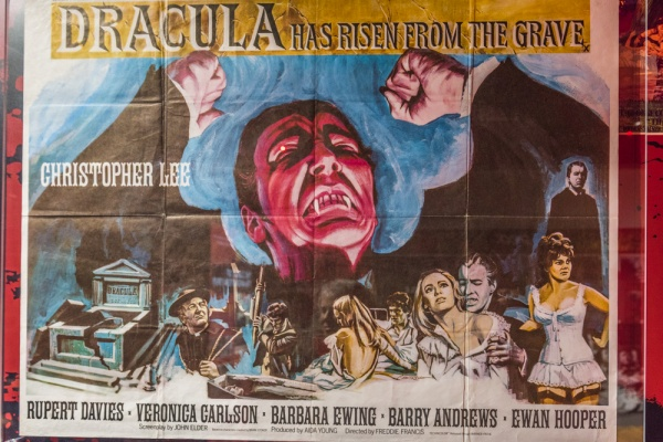 Hammer horror film exhibit