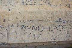 Hickling, Civil War graffiti inside St Mary's church