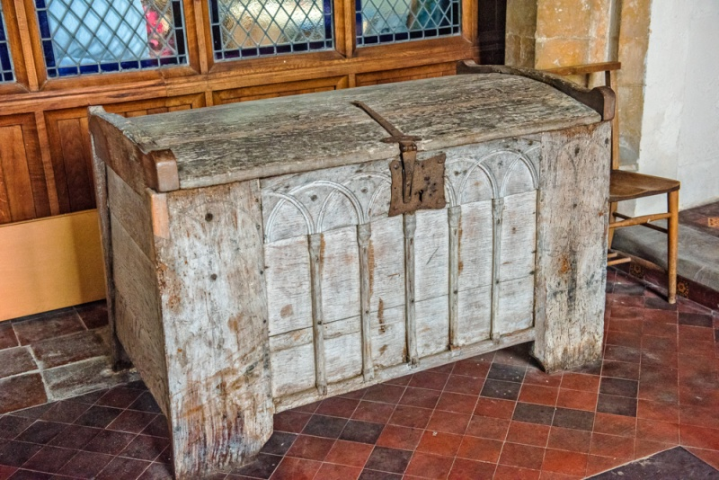 The ancient oak chest, c. 1175