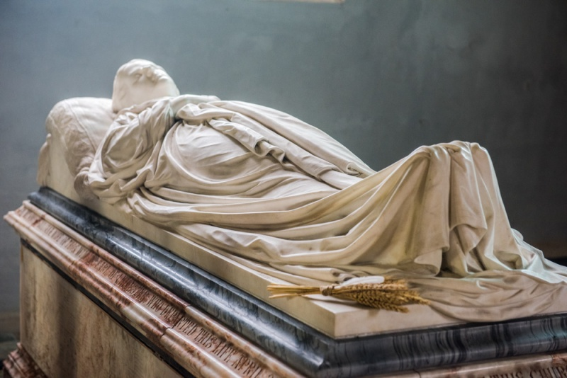 Memorial to Juliana, 2nd Countess of Leicester, d. 1870