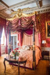 One of the state bedrooms at Holkham