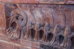 Holme Cultram Abbey, Memorial to Abbot Robert Chamber, 1489