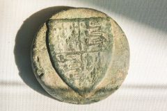 Holme Cultram Abbey, 14th century copper weight for weighing salt