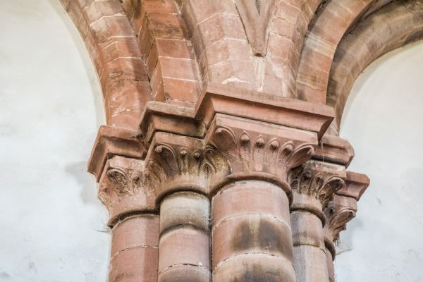 Holme Cultram Abbey photo, Carved capitals on the nave arcade