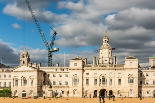 Horseguards (Household Cavalry Museum entrance is left of centre)