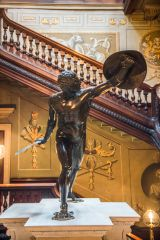 Houghton Hall, The magnificent gladiator statue in the staircase hall