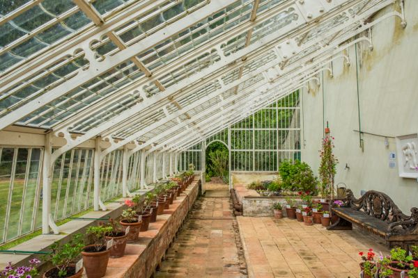 Hoveton Hall Gardens photo, The restored Victorian glasshouse