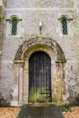 Hurstbourne Priors, St Andrew's Church, The 12th century tower doorway