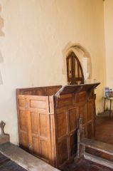 Icklingham, All Saints Church, The 17th century reading desk