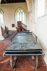 Icklingham, All Saints Church, The 19th century funeral bier