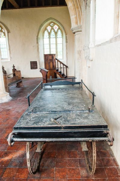 Icklingham, All Saints Church photo, The 19th century funeral bier