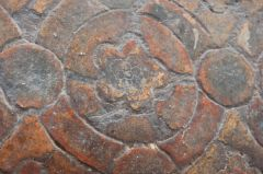 Icklingham, All Saints Church, The 14th century tiled floor
