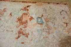 15th century wall painting of Avarice