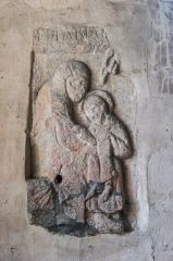 Saxon painted carving of the Virgin and Child