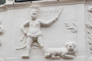 Pargeting panel depicting America