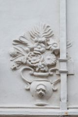Ancient House, Pargeting depicting a vase of flowers