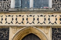 Intricate stonework over the west door