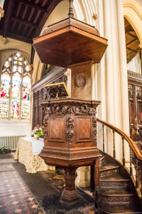 The richly carved pulpit, 1700