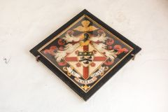 Funeral hatchment to the Trotman family