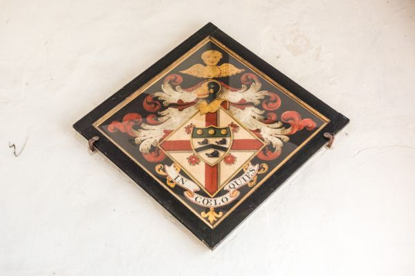 ipswich, St Peter by the Waterfront photo, Funeral hatchment to the Trotman family