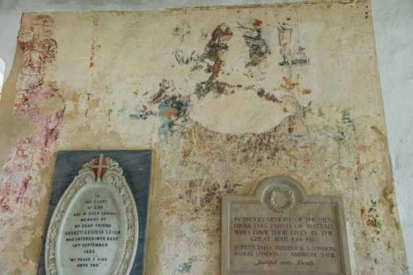 Irstead St Michaels Church photo, St Christopher wall painting