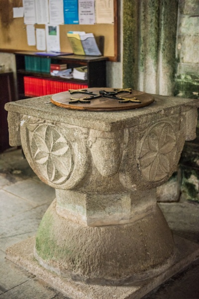 The striking Norman font