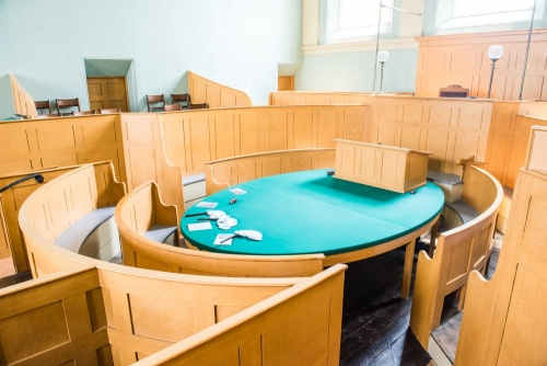 The restored Victorian courtroom in the Judge's Lodgings