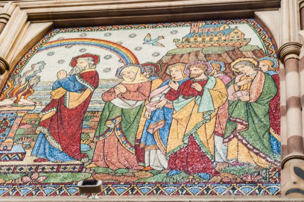 Keble College photo, Colourful mosaic decoration in the chapel