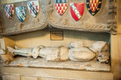 Medieval effigy of Sir John Curzon