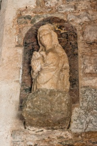 14th century Virgin and Child alabaster statue