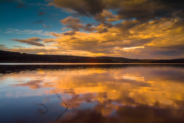 Kielder Water sunset