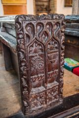 One of the superb medieval bench ends