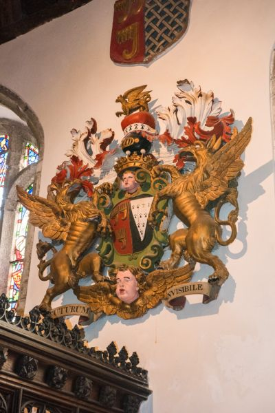 Kilkhampton, St James Church photo, The arms of John Granville, First Earl of Bath