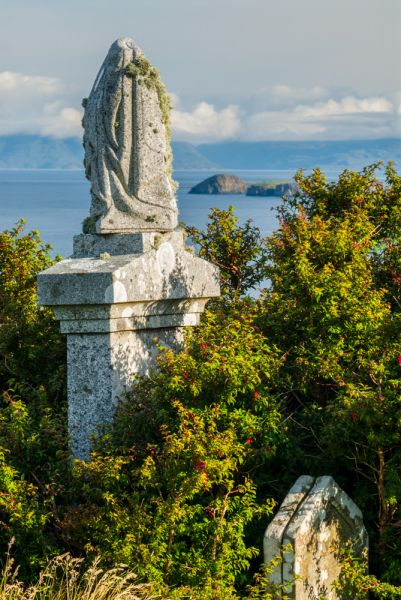 Flora MacDonald's Grave & Kilmuir Cemetery photo, A Victorian monument, looking towards Lewis