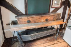 King John's Hunting Lodge, The Axbridge workhouse coffin and bier