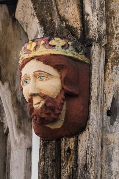 King John's Hunting Lodge photo, 'King John's' head