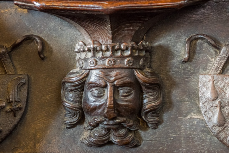 14th century misericord in the choir