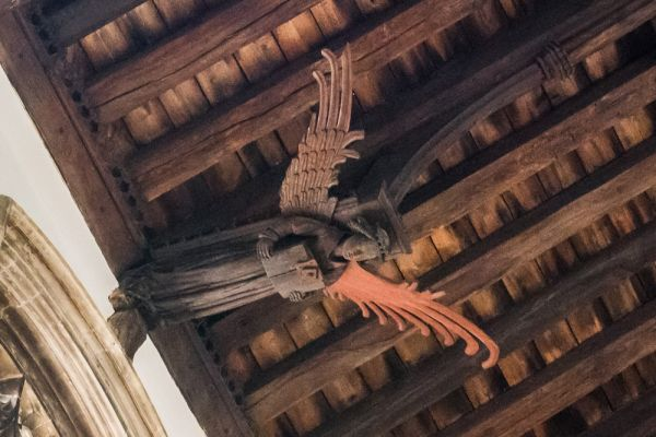 King's Lynn, St Nicholas Chapel photo, Medieval carved wooden angel